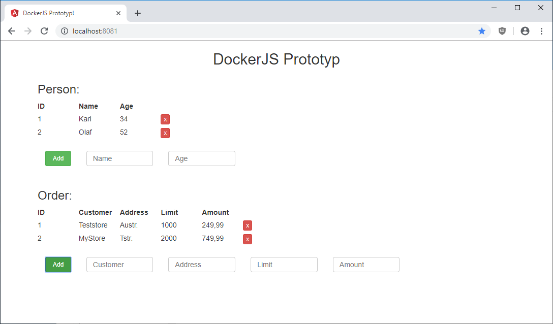DockerJS Prototyp