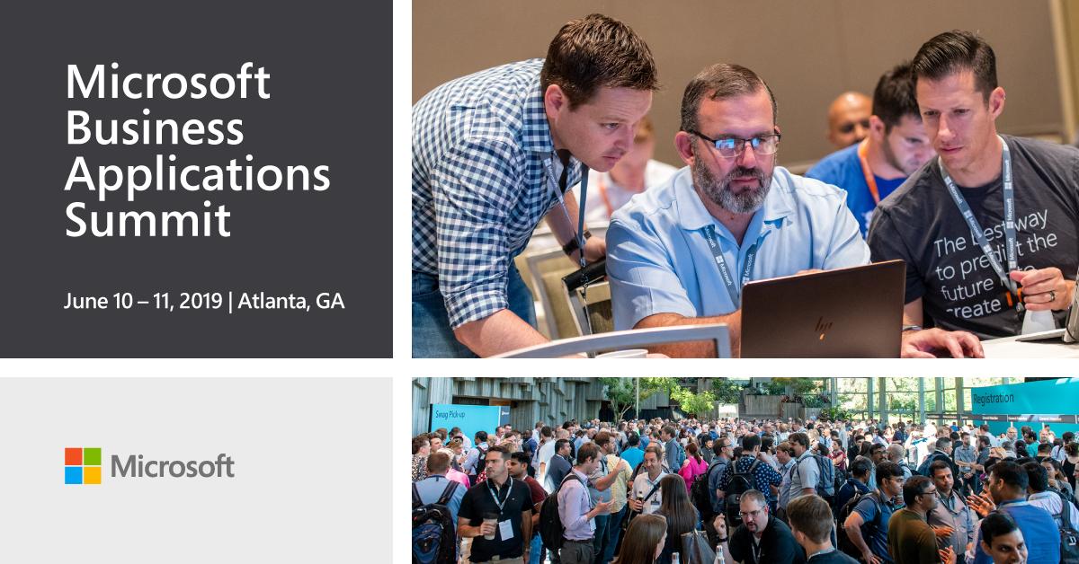Microsoft Business Applications Summit, Atlanta, 2019