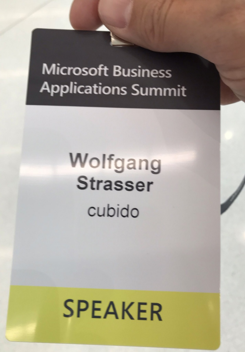 Wolfgang Strasser @ Microsoft Business Applications Summit 2019